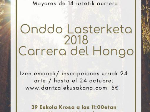 ONDDO LASTERKETA 2018