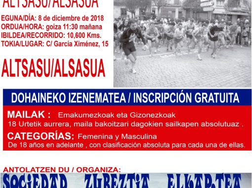 XXXVIII CARRERA PEDESTRE POPULAR XXXV MEMORIAL A. BARRICARTE